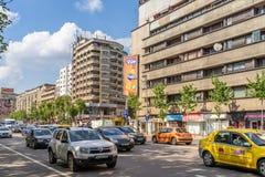 Час пик на бульваре Gheorghe Magheru Бухареста Стоковые Изображения RF