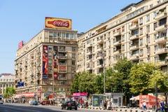 Час пик на бульваре Gheorghe Magheru Бухареста Стоковое Изображение RF