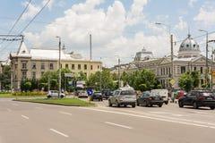 Час пик на квадрате университета Стоковая Фотография