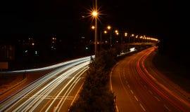 Час пик на шоссе Стоковая Фотография