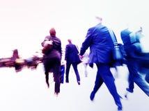 Час пик работы пути регулярных пассажиров пригородных поездов препровождает концепцию Стоковое фото RF