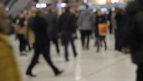 Час пик толпы defocussed предпосылка людей сток-видео