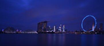 Час сини Сингапура стоковая фотография rf