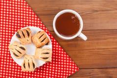 Чашек чаю и печенья Стоковые Фото