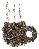 Чашек чаю сделанное от листьев чая Стоковое Изображение