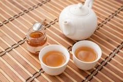 Чашек чаю с чайником Стоковое Изображение