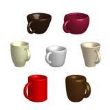 7 чашек Стоковые Изображения