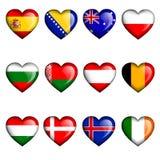 16 чашек d b c каждый мир рубашки наций слоя групп градиента футбола флагов большим отделенный печатанием установленный Стоковые Фотографии RF