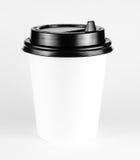 Чашка белой бумаги горячего питья Стоковая Фотография RF