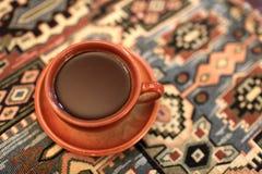 Чашка Брайна армянского кофе стоковое фото rf