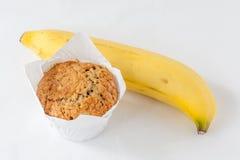 Чашка вкусной булочки банана и банана ключевого ингридиента зрелого Стоковое Фото