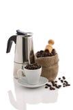 Чашка вполне кофейных зерен Стоковое Изображение