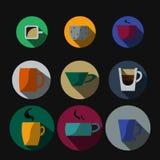 Чашка в плоском стиле Стоковое Изображение