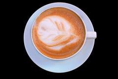 Чашка горячего кофе капучино Стоковое Изображение RF