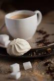 Чашка горячего кофе эспрессо, и печенья Стоковая Фотография