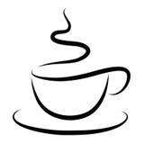 Чашка горячего кофе Стоковые Изображения
