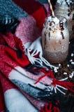 Чашка горячих какао или кофе Стоковое Изображение
