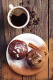Чашка горячих кофе и пирожного Стоковые Фотографии RF