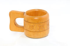 чашка деревянная Стоковые Изображения