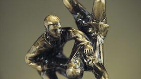 Чашка для победы в чемпионате дзюдо Чашка для спортивного достижения Трофей представляет 2 люд в sparring стоковое изображение rf