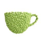 Чашка зеленых яблок Стоковые Изображения