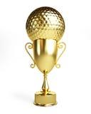 Чашка золота гольфа бесплатная иллюстрация