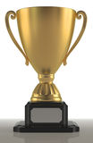 Чашка золота сложной формы Стоковое Изображение