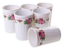 Чашка изолированная на белой предпосылке Стоковая Фотография