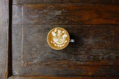 Чашка искусства latte Стоковое Фото