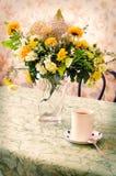 Чашка и букет чая Стоковые Изображения RF