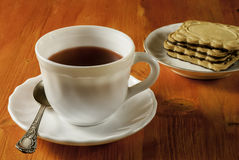 Чашка и печенья Стоковая Фотография RF