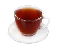 Чашка и поддонник с черным чаем Стоковое Фото