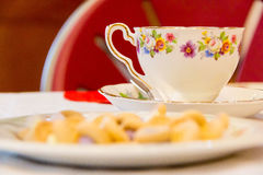 Чашка и поддонник чаепития милые Стоковое Фото