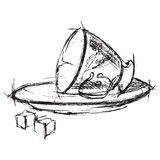Чашка и поддонник Стоковые Изображения RF