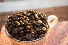 Чашка и фасоль Coffe Стоковое Изображение RF