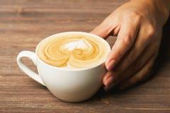 Чашка капучино Стоковая Фотография