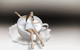чашка капучино Стоковые Фотографии RF