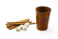 Чашка кости с saltsticks Стоковая Фотография RF