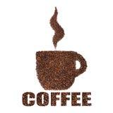 Чашка кофейных зерен. Принципиальная схема Стоковое Изображение