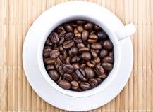 Чашка кофейных зерен стоковые фотографии rf