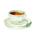 Чашка кофе акварели Стоковое Изображение RF