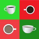 Чашка кофе: взгляд со стороны, взгляд сверху Стоковая Фотография