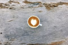 Чашка кофе искусства latte Стоковое Изображение RF