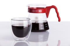 Чашка кофе и лить-над Стоковые Изображения RF