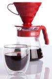 Чашка кофе и лить-над Стоковая Фотография
