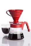 Чашка кофе и лить-над Стоковые Фото