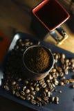Чашка кофе и кофейные зерна Стоковое фото RF