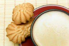 Чашка кофе и печенья Стоковое Изображение RF
