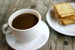 Чашка кофе и печенья Стоковые Изображения RF