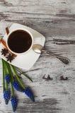 Чашка кофе и циннамон Стоковое Изображение RF